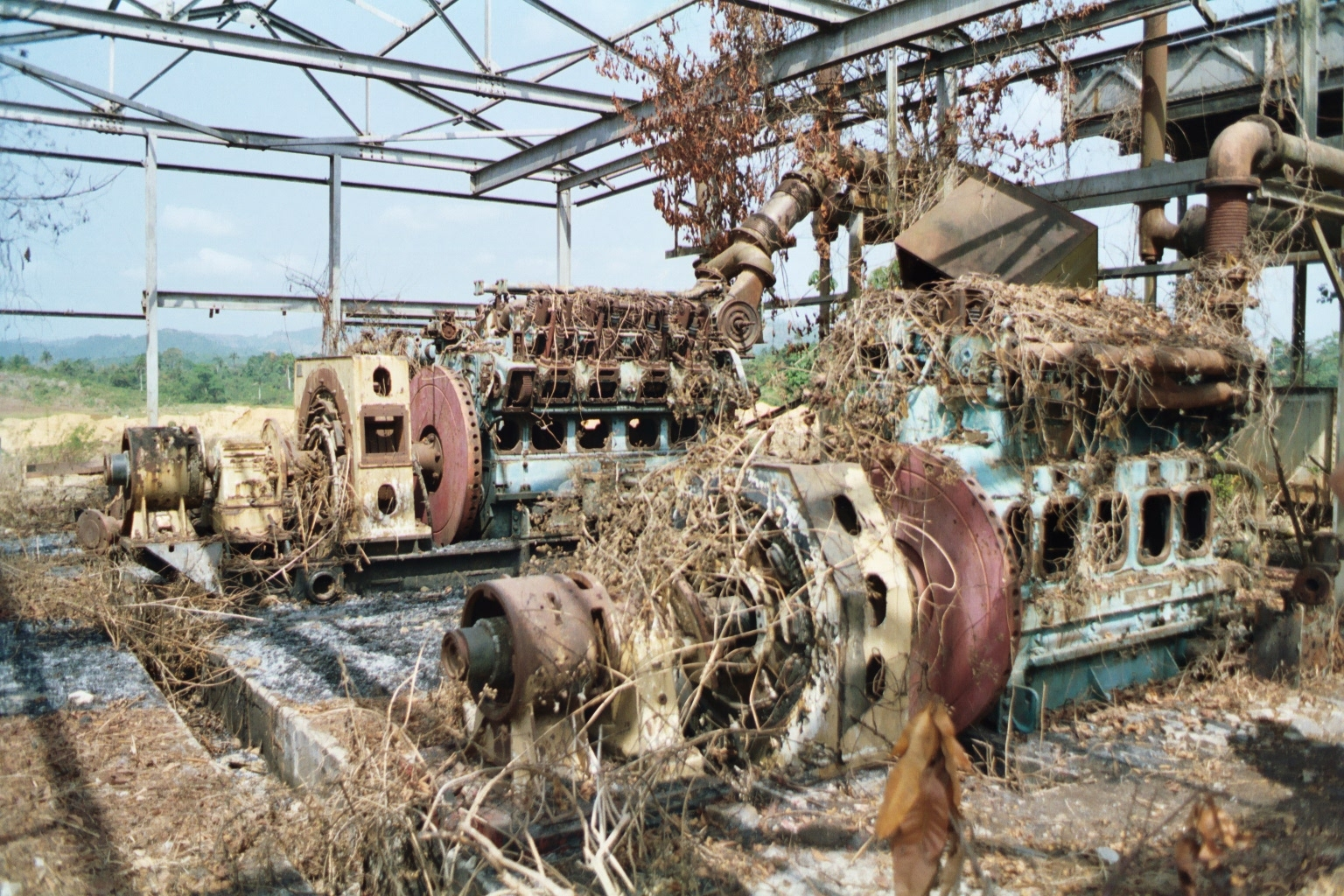 Wrecked machinery
